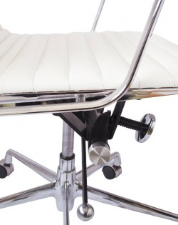 Group Ribbed Low Back Office Chair – White
