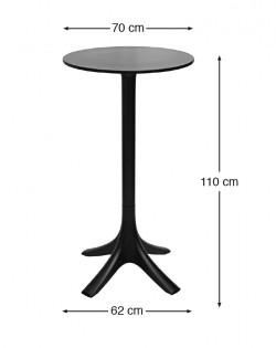 Canard Outdoor Bar Leaner – Black