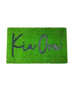 DOORMAT – KIA ORA – GRASS GREEN