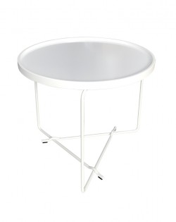Rod Side Table – White