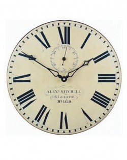 Station Wall Clock with Seconds Hand
