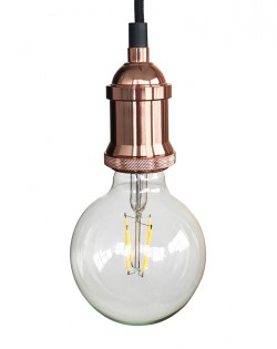 Vintage Hanging Bulb – Rose Gold