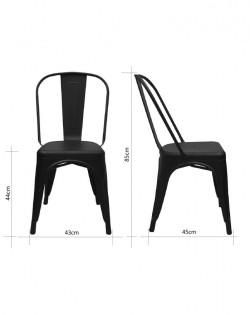 Amelie Chair – Black – Set of 4