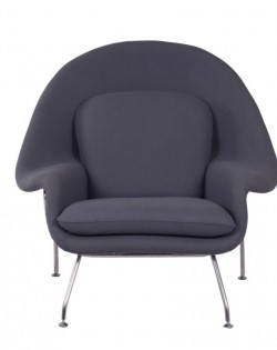 Replica Eero Saarinen Womb Chair – Charcoal