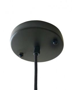 Conic Glass Pendant – Gunmetal Fitting