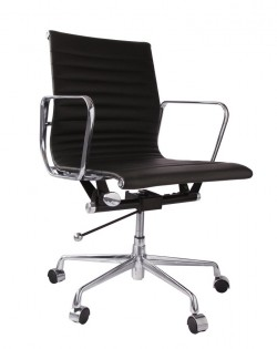 Group Ribbed Low Back Office Chair – Black