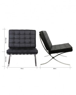 Replica Barcelona Chair – Black