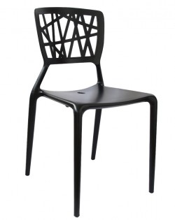 TIG Table and Set of 4 Kriss Kross Chairs – Black