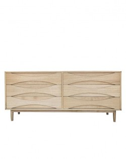 Arne 6 Drawer Lowboy- Natural