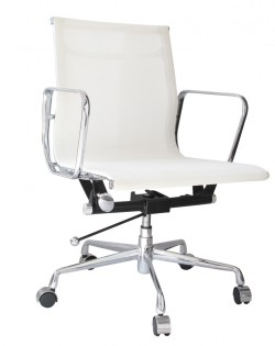 Group Low Back Mesh Office Chair – White