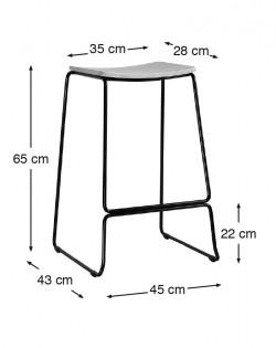 Loft Barstool 65cm – Black
