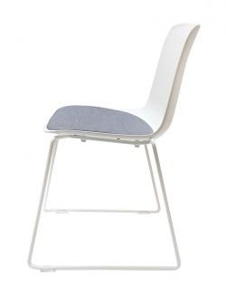 Valentina Chair – White/Grey Cushion
