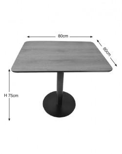 Cuba Café Table – Woodgrain Table Top