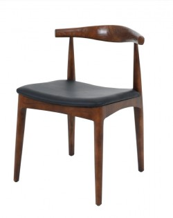 Nordic Elbow Chair – Dark Brown