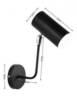 Cylinder Wall Lamp – Black – Black