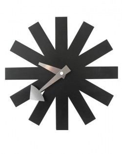 Replica George Nelson Asterisk Wall Clock – Black