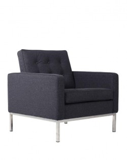 Replica Florence Knoll Armchair – Charcoal