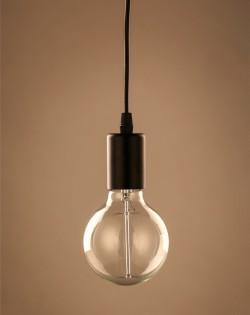 Minimalist Hanging Bulb – Black