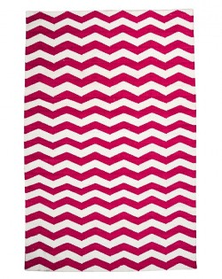 Chevron Rug – Ivory/Red 160 x 230cm
