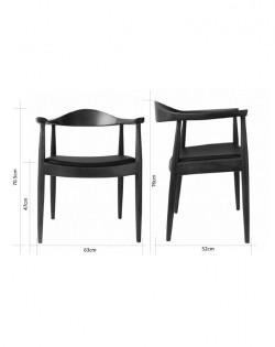 Nordic Hoop Chair – Dark Brown