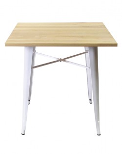 Amelie Table – White/Ash Wood Top