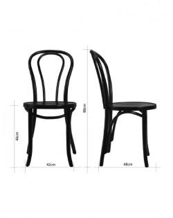 Vienna Bentwood Chair – Black