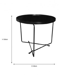 Rod Side Table – Black