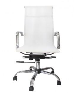 Bureau High Back Mesh Office Chair – White