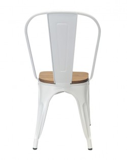 Amelie Chair – Matt White / Natural Elm Wood