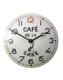Café de la Gare Tin French Kitchen Clock