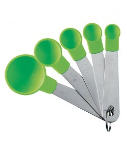 Nylon Measure Spoons – Set of Five – Green