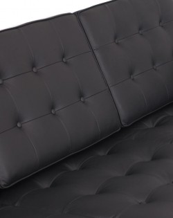 Replica Florence Knoll 3 Seater Sofa – Black Leather