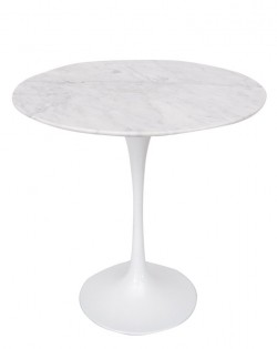 Replica Eero Saarinen Tulip Side Table – White Marble
