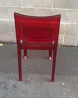 Transparent Chair – Red