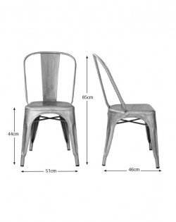 Amelie Chair Premium – Galvanised