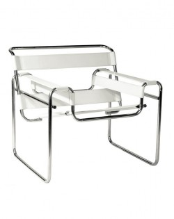 Replica Wassily Chair – Ivory White