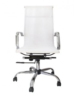 Bureau High Back Mesh Office Chair – White