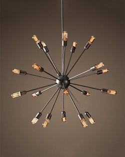 Satellite Pendant Large – Matt Black