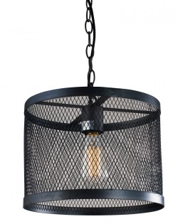 Industrial Mesh Drum Pendant – Small