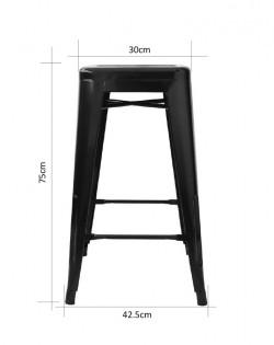 Amelie Stool 75cm – Black