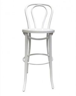 Vienna Bentwood Barstool 75cm – White