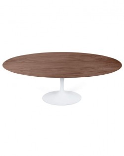 Replica Eero Saarinen Tulip Dining Table Oval – Walnut