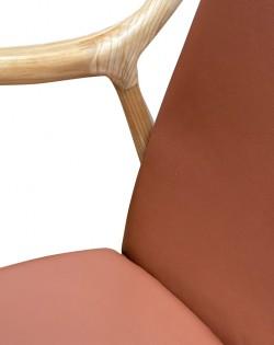 Odin Armchair – Leather Tan / Ash Wood