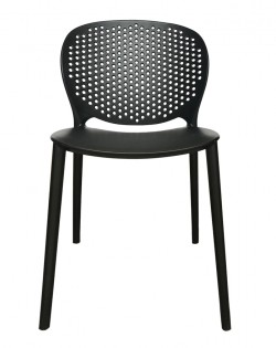 Canard Table and Set of 4 Sonnet Chairs – Black