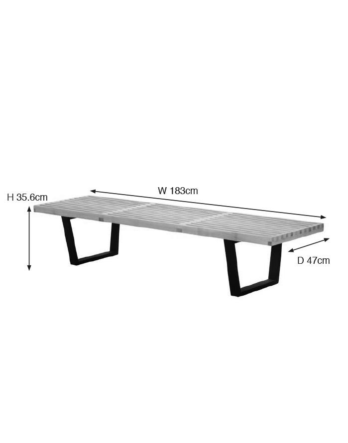 Excellent Replica George Nelson Platform Bench Large Zuca Gmtry Best Dining Table And Chair Ideas Images Gmtryco