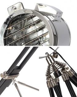 Navigator Floor Lamp – Wood Chrome