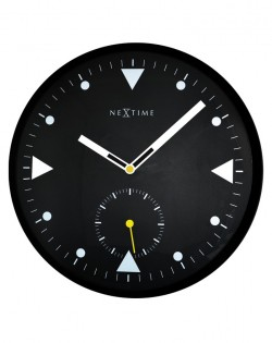 Serious Black Wall Clock