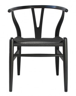 Nordic Y Back Dining Chair – Black/Black Weave