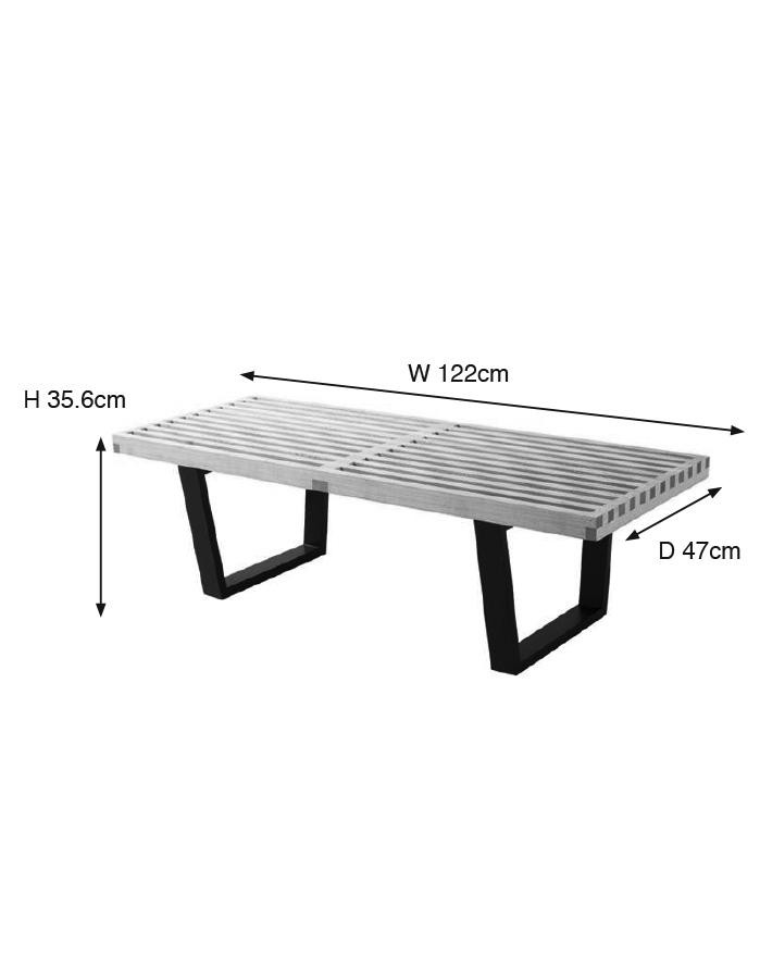 Fine Replica George Nelson Platform Bench Small Zuca Gmtry Best Dining Table And Chair Ideas Images Gmtryco