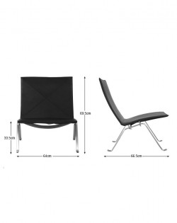 Replica Poul Kjaerholm PK22 Lounge Chair – Black